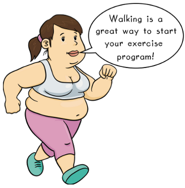 Lady Walking and Exercising