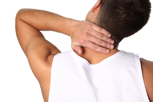Man with chronic neck pain